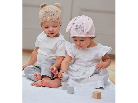 Baby Animal Hats in Sirdar Snuggly 100% Cotton (5274S)