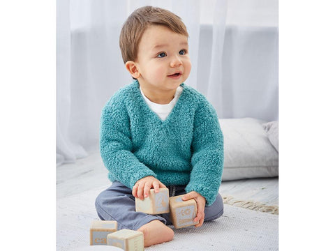 Baby Boy's Sweater in Sirdar Snuggly Bunny (5307S)