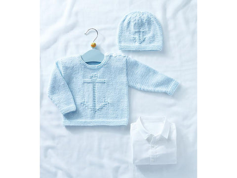 Babies Sweater and Hat in Sirdar Snuggly Soothing (5321)
