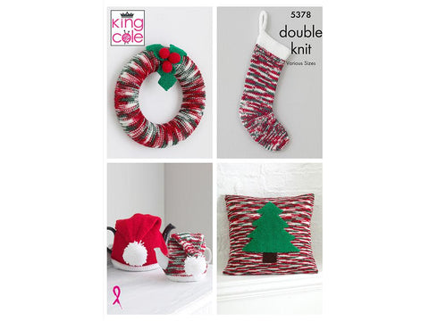 Christmas Accessories in King Cole Glitz DK