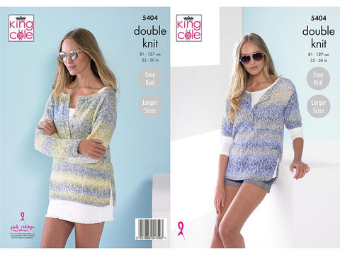 Ladies Tops in King Cole Caribbean Calypso DK (5404)