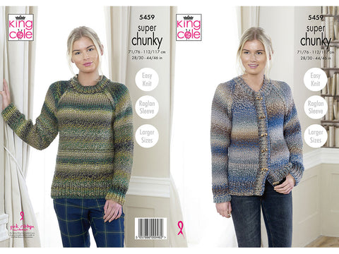 Cardigan and Sweater in King Cole Explorer Super Chunky (5459K)