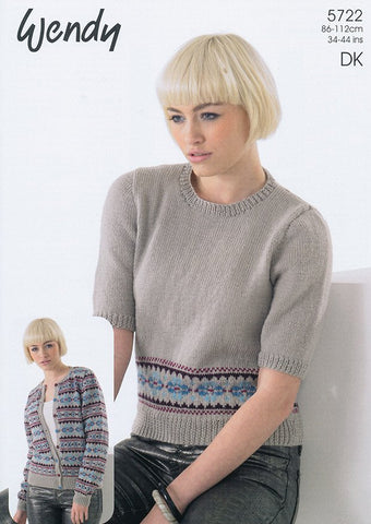 Fairisle Sweater and Cardigan (5722)
