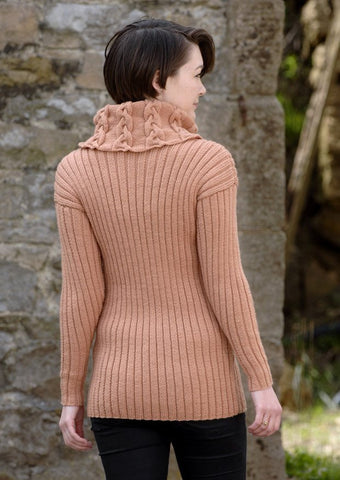 Cable, Rib Polo and Cowl Neck Sweaters in Wendy Merino DK  (5812) - Digital Version