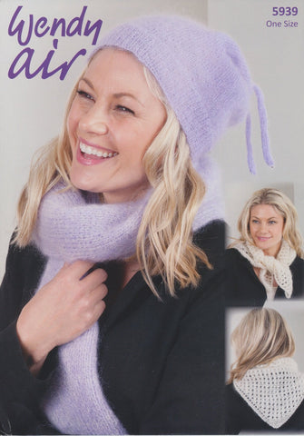 Hat, Scarf, and Cravat in Wendy Air (5939)