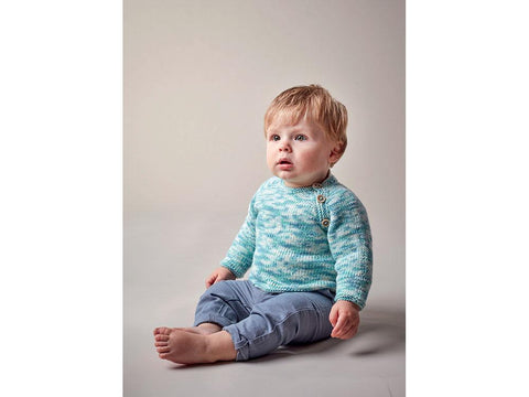 Sweater in Sublime Baby Cashmere Merino Silk DK Prints (6145)