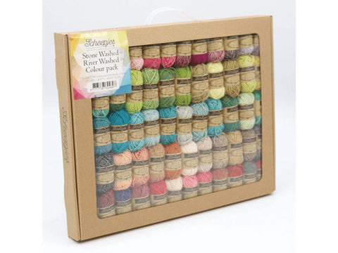 Scheepjes Stone Washed - River Washed Colour Pack (58 x 10g Balls)