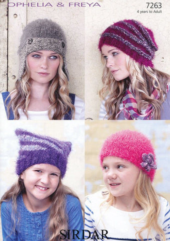 Hats in Sirdar Ophelia and Freya (7263)