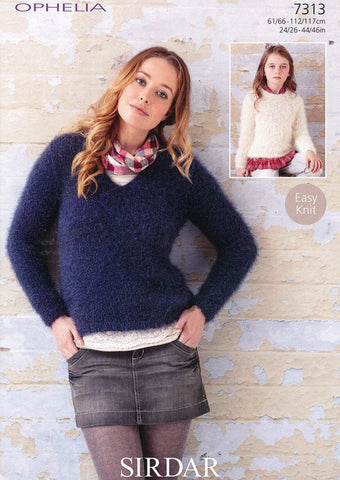 Sweaters in Sirdar Ophelia (7313)