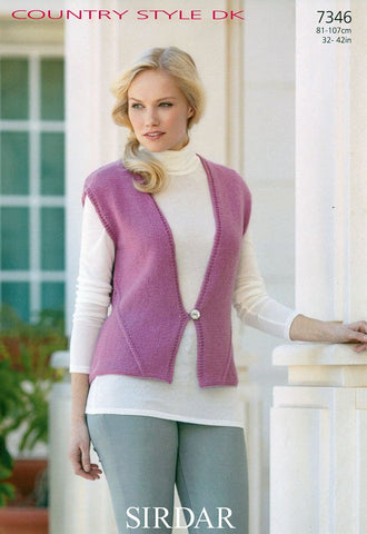 Womens Waistcoat in Sirdar Country Style DK (7346)