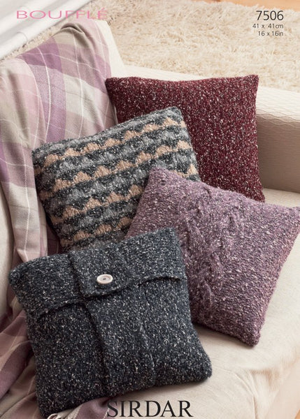 Cushion Covers in Sirdar Bouffle (7506)