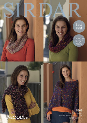 Poncho Snood and Scarf in Sirdar Caboodle (7842)