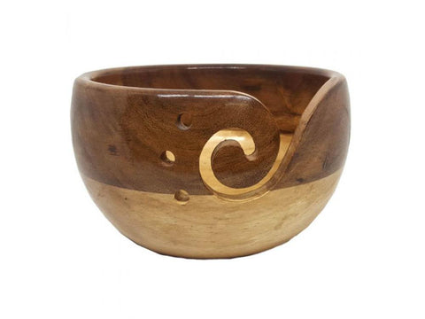 Scheepjes Yarn Bowl - Acacia Wood & Pinewood