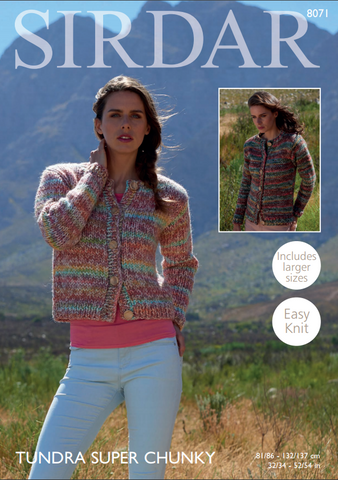 Cardigans in Sirdar Tundra Super Chunky (8071)