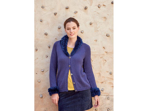 Cardigan in Sirdar No.1 DK and Funky Fur (8245S)