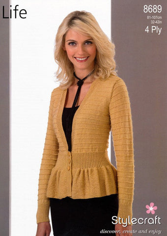 Jacket in Stylecraft Life 4 Ply (8689)