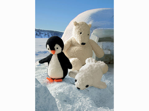 Penguin, Polar Bear and Seal Toys in King Cole DK & Chunky (9006K)