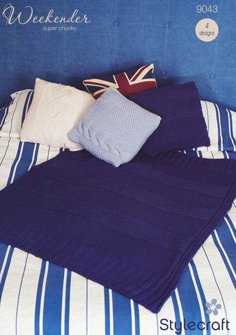 Cushions and Throw in Stylecraft Swift Knit Stripes (9043)