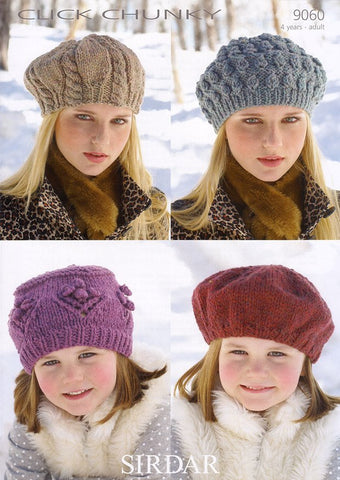 Beret and Hats in Sirdar Click Chunky (9060)