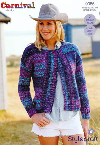 Jackets in Stylecraft Carnival Chunky (9085)