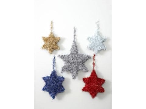 Tinsel Stars in King Cole Tinsel Chunky (9106K)