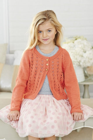 Girls' Cardigans in Stylecraft Classique Cotton DK (9134)