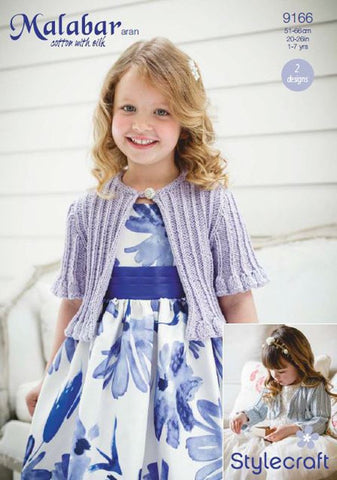 Girls Occasion Cardigans in Stylecraft Malabar (9166)