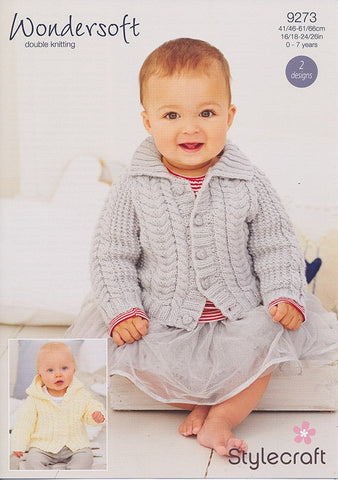 Childrens Jackets in Stylecraft Wondersoft DK (9273)