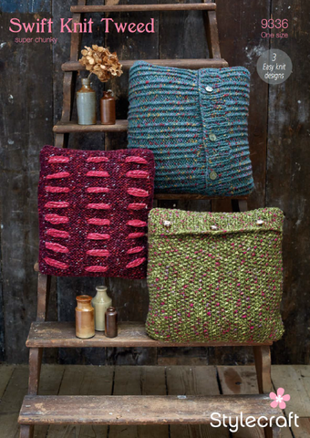 Cushion Covers in Swift Knit Tweed (9336)