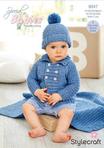 Boy's Jacket, Hat and Blanket in Special for Babies DK (9347)