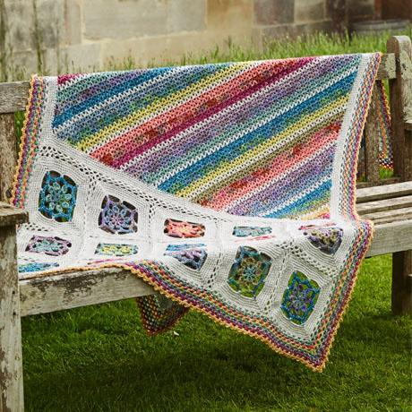 Blanket and Cushion Pattern in Stylecraft Batik DK and Batik Elements DK (9448) by Annelies Baes