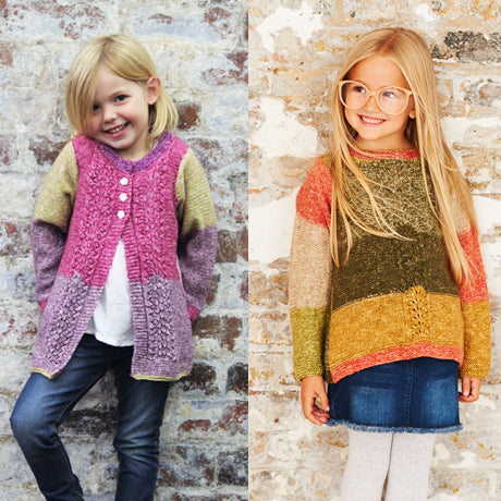 Girls Sweater & Cardigan in Stylecraft Batik Swirl (9485)