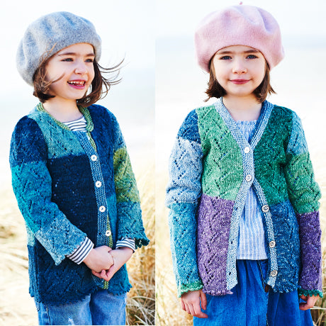 Girls Cardigans & Mittens in Stylecraft Batik Swirl (9539)