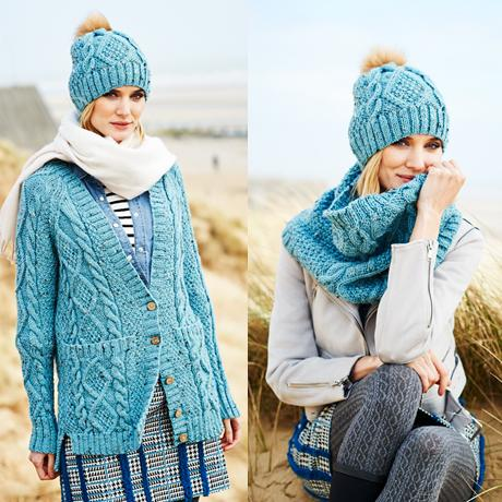 Ladies Cardigan, Snood & Hat Kit in Stylecraft Special Aran with Wool (9554)