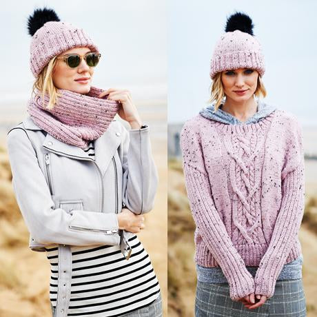 Ladies Sweater, Snood & Hat Kit in Stylecraft Special Aran with Wool (9555)