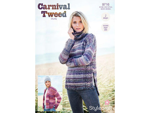 Sweater and Jacket in Stylecraft Carnival Tweed (9716)