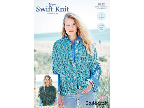 Cape Jacket and Sweater in Stylecraft New Swift Knit (9722)