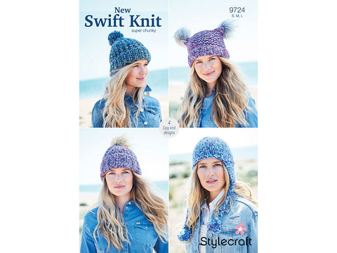 Hats in Stylecraft New Swift Knit Super Chunky (9724)