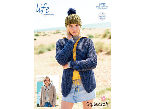 Cardigans in Stylecraft Life Super Chunky (9732)
