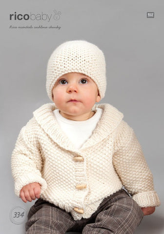 Baby Cardigans in Rico Design Essentials Cashlana Chunky (334)