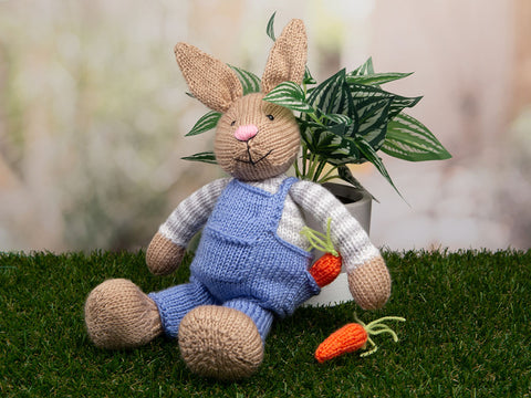 Bunny Rabbit by Amanda Berry in Deramores Studio Baby Soft DK Knitting Kit and Pattern