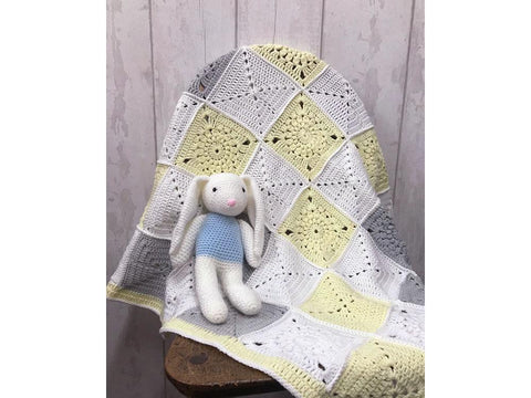 Sunshine Baby Blanket in Cygnet Yarns Kiddies Super Safe and Soft DK (CY1134)