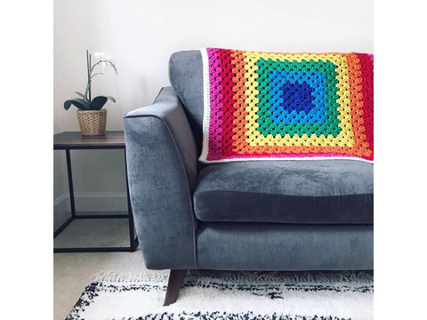 Rainbow Blanket in Cygnet Yarns Whopper Cotton (CY1208)