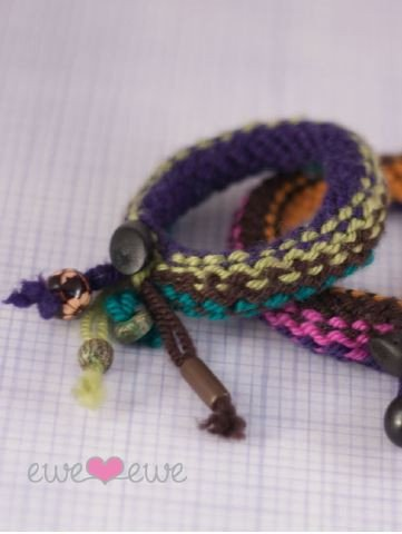Knitship Bracelets in Ewe Ewe Yarns Digital Version