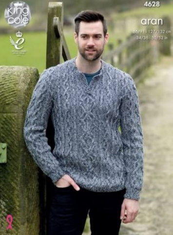 Sweater & Slipover in King Cole Fashion Aran Combo (4628)