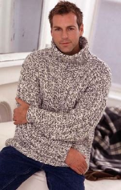 Mans Rib Sweater in Rowan Digital Version