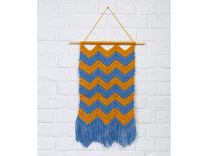 Chevron Wall Hanging by Jo Janes in Deramores Studio Chunky