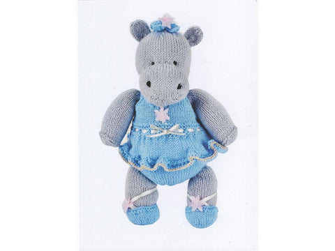 Darcey the Dancing Hippo by Val Pierce in Rico Design Baby Classic DK