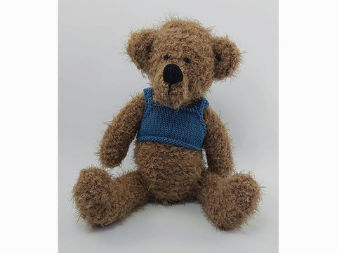Walter Bear by Sardines For Tea in Sirdar Touch and Rico Design Creative Ricorumi DK