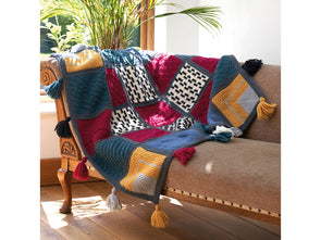 Emeline Mindful Blanket by Lynne Rowe in West Yorkshire Spinners Re:Treat